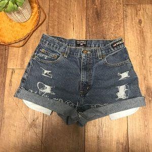 Vintage polo Ralph Lauren distressed jean shorts 4